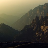 Huangshan Mountain Range, China.