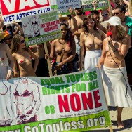 National GoTopless Day Venice Beach LA 2011