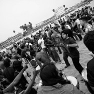 Party on the beach, drums and all, Venice Beach, LA