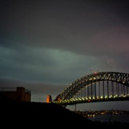 Sydney Harbour Bridge Lightning Storm